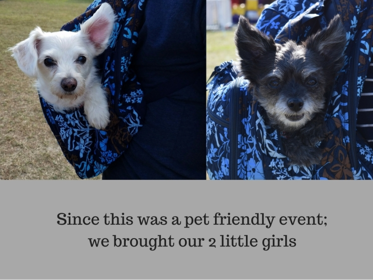 Since this was a pet friendly event; we brought our 2 little girls