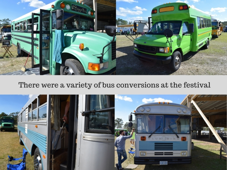 There were a variety of bus conversions at the festival