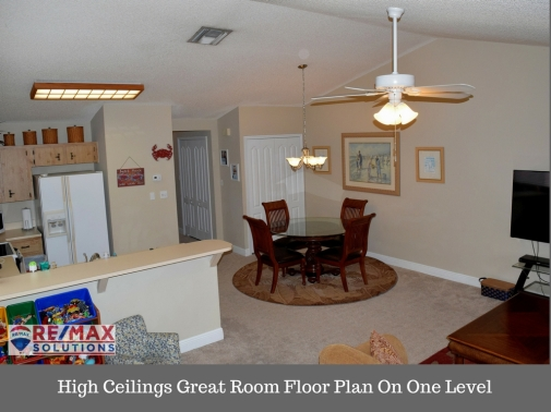 High Ceilings Great Room Floor Plan On One Level