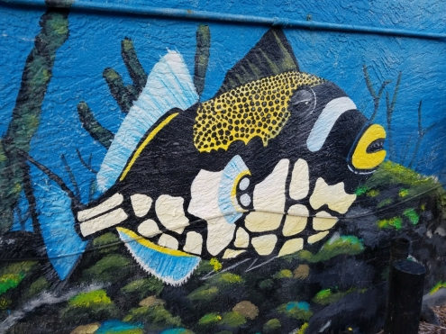 Fat Kahuna Cocoa Beach Mural Fish 2