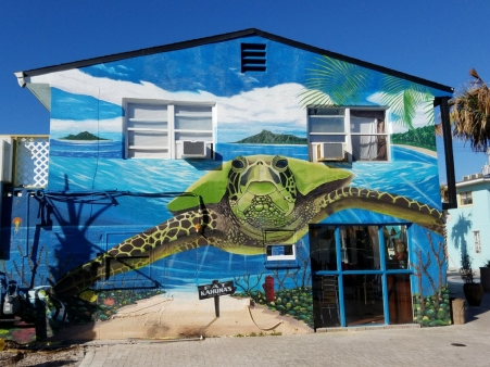 Fat Kahuna Cocoa Beach Sea Turtle Mural