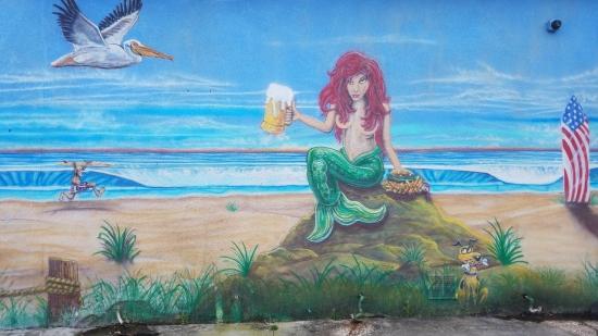 Cocoa Beach Mermaid mural