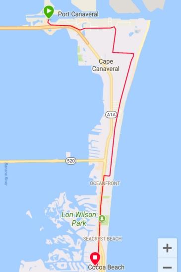 Port to Minutemen Cocoa Beach