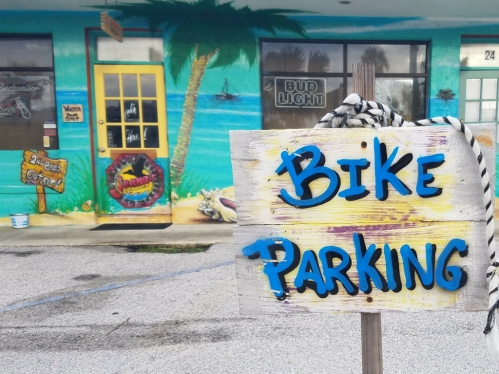 Bike Parking Jennas Breezeway Cocoa Beach Insider
