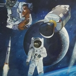 NASA Mural astronaut