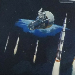 NASA Mural rockets