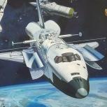 NASA Mural shuttle