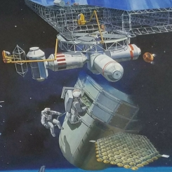 NASA Mural space station