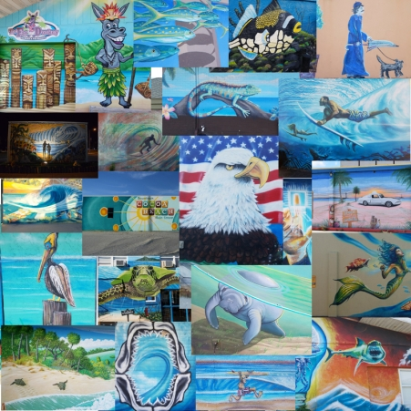 Cocoa Beach Mural Collage
