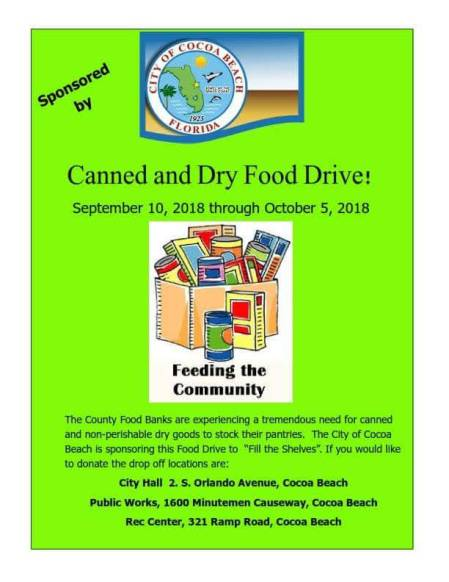 Cocoa Beach Food Drive