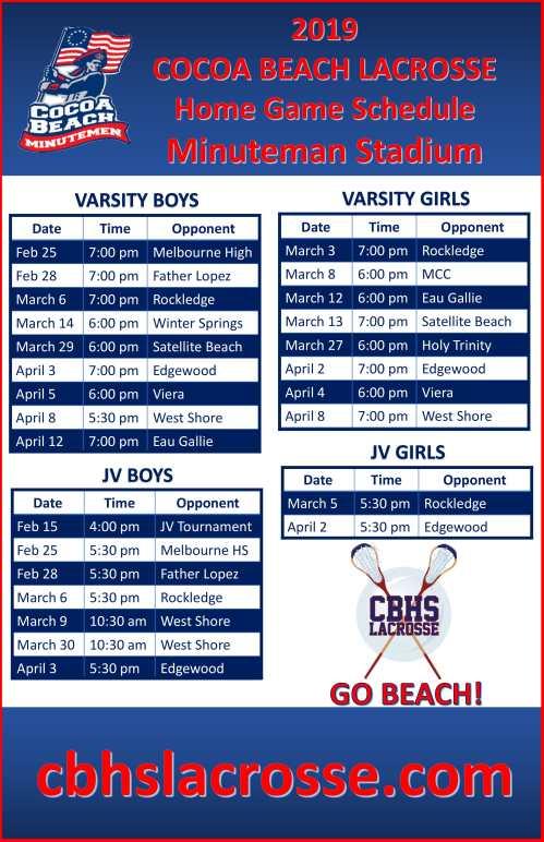 cocoa beach lacrosse 2019 schedule-1