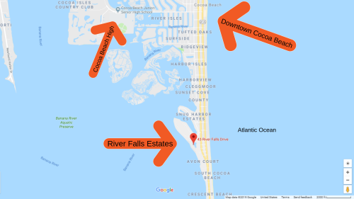 Map View Cocoa Beach