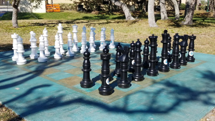 Large outdoor chess set in Cape Canaveral