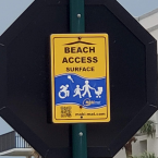 Look for the Mobi Mat signs in Cape Canaveral
