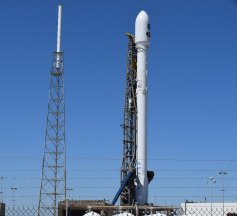 SpaceX Falcon9 on the pad