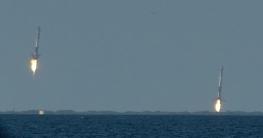 SpaceX Heavy Falcon Landing