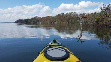 Mandatory front of kayak pic