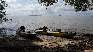 Kayaks get to rest
