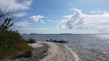 Port Canaveral in the distance