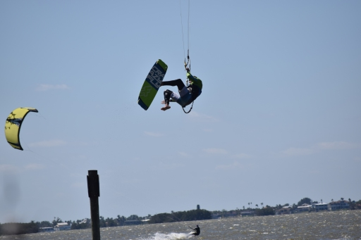 Kite Surfing is very popular at 520
