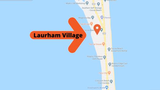Map view of Laurham Village.