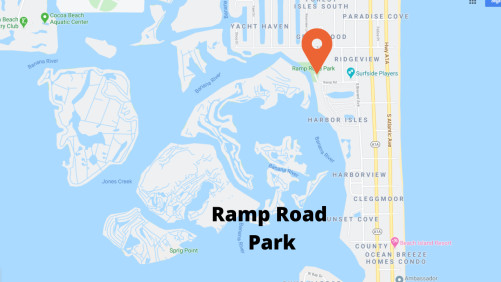 google map view ramp road park Cocoa Beach