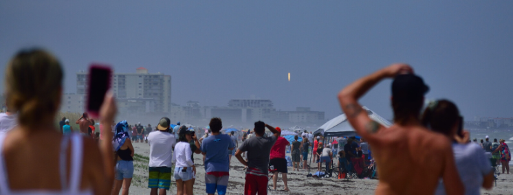 SpaceX Demo 2 launch from south Cocoa Beach