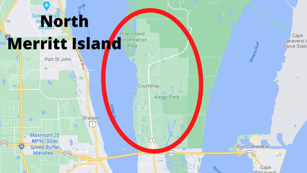 google maps view of North Merritt Island