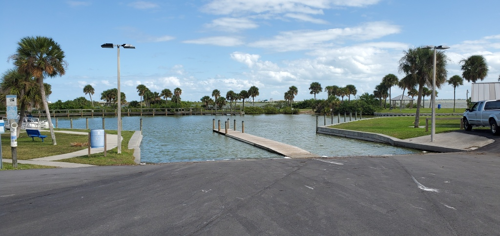 Kelly Park boat ramps on the north end of Banana River Drive near SR528