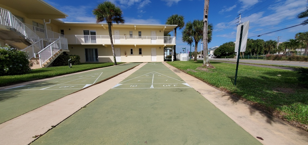 Shuffleboard courts from the Lamp Post condos