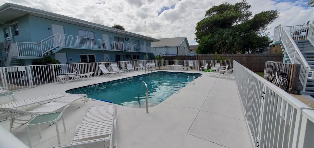 Community pool at Ridgewood Condos in Cape Canaveral