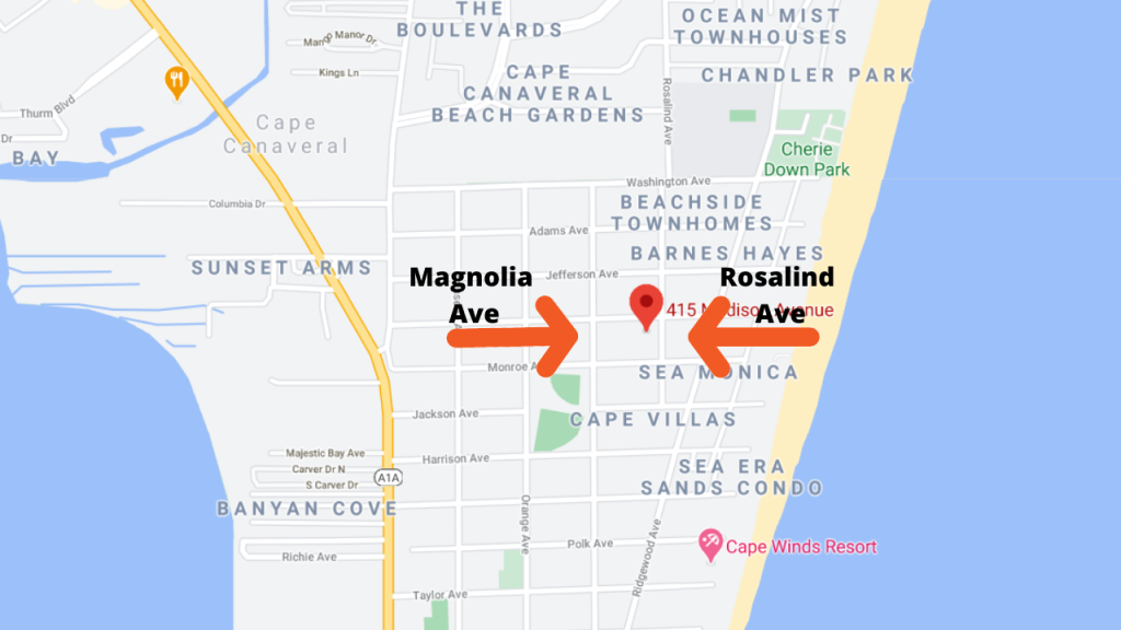 Map View of Starbeach condos
